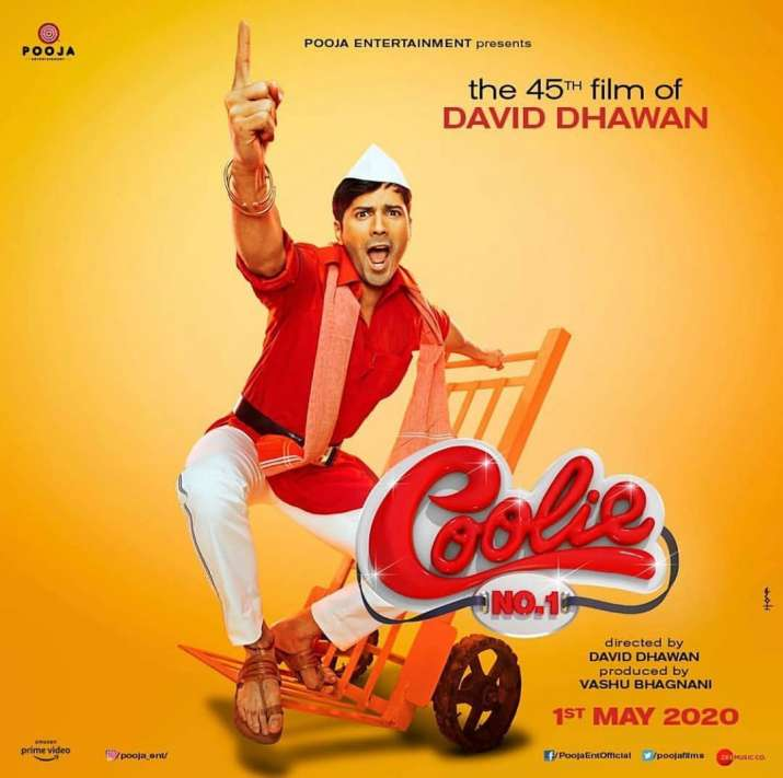 India Tv - Varun Dhawan on Coolie No. 1 poster