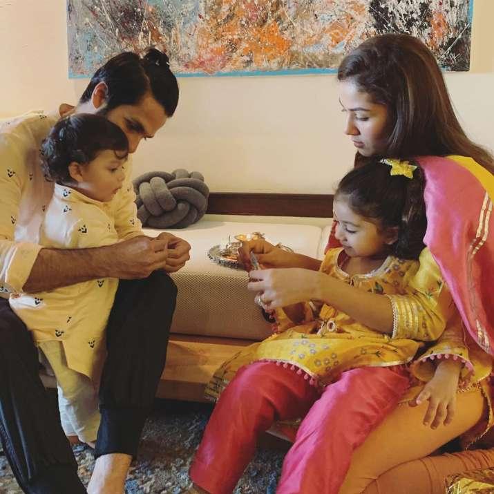 India Tv - Shahid Kapoor and Mira Kapoor's kids Zain and Misha's first Rakshabandhan