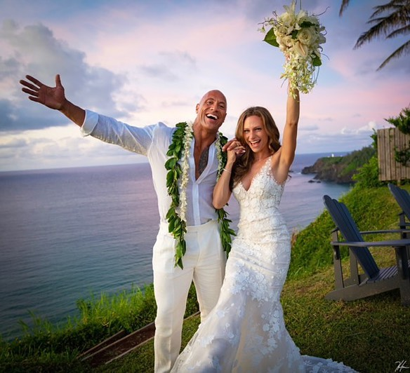 India Tv - Dwayne Johnson marries longtime girlfriend Lauren Hashian