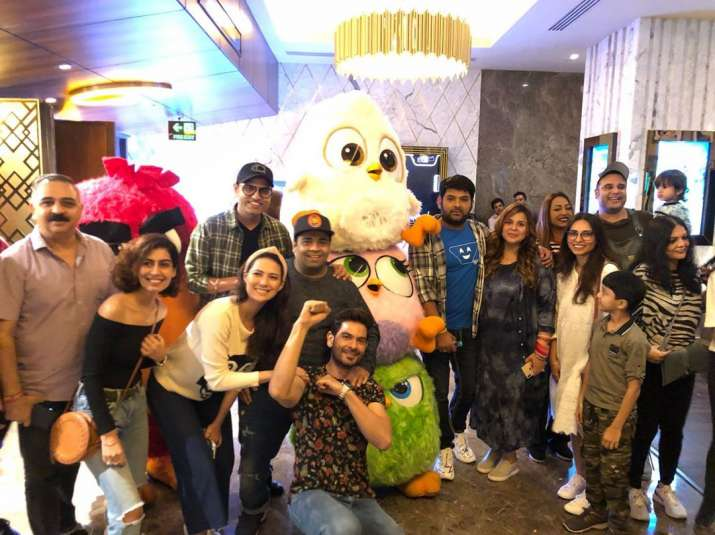 India Tv - Kapil Sharma attends Angry Birds 2 movie screening with pregnant wife Ginni and The Kapil Sharma Show cast