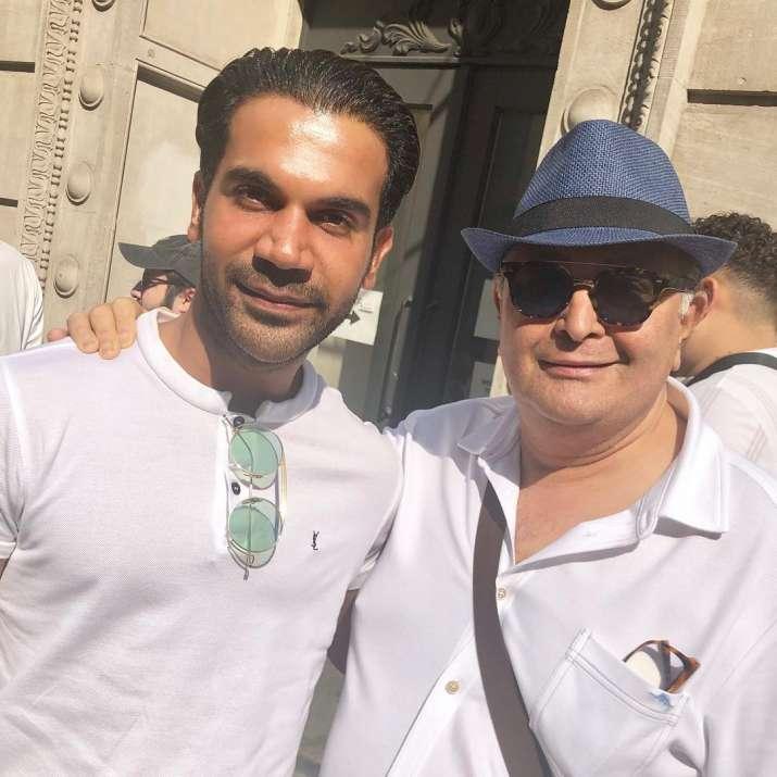 India Tv - Rishi Kapoor and wife Neetu bumps into Rajkummar Rao and Patralekhaa in New York