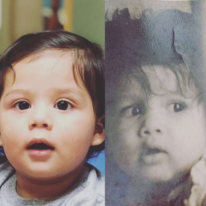 India Tv - Shahid Kapoor's childhood picture along with son Zain's picture