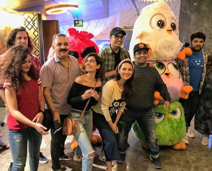 India Tv - Kapil Sharma with pregnant wife Ginni and The Kapil Sharma Show cast
