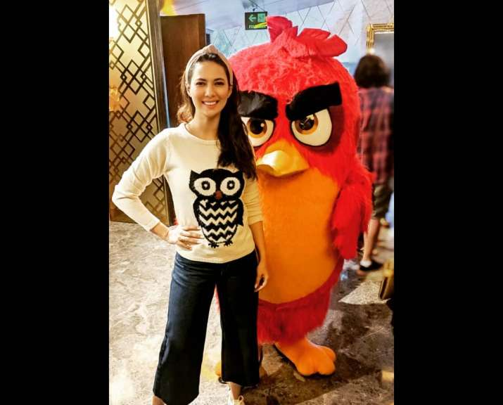 India Tv - Rochelle Rao at Angry Birds 2 movies screening