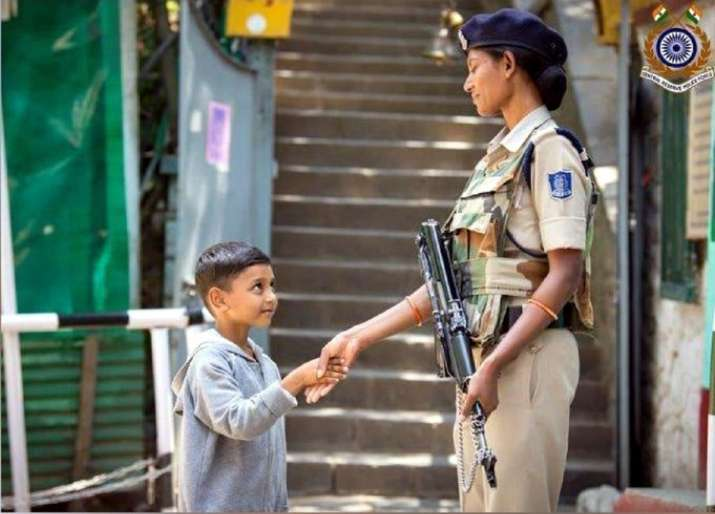 Adorable: Photo of CRPF personnel shaking hands with