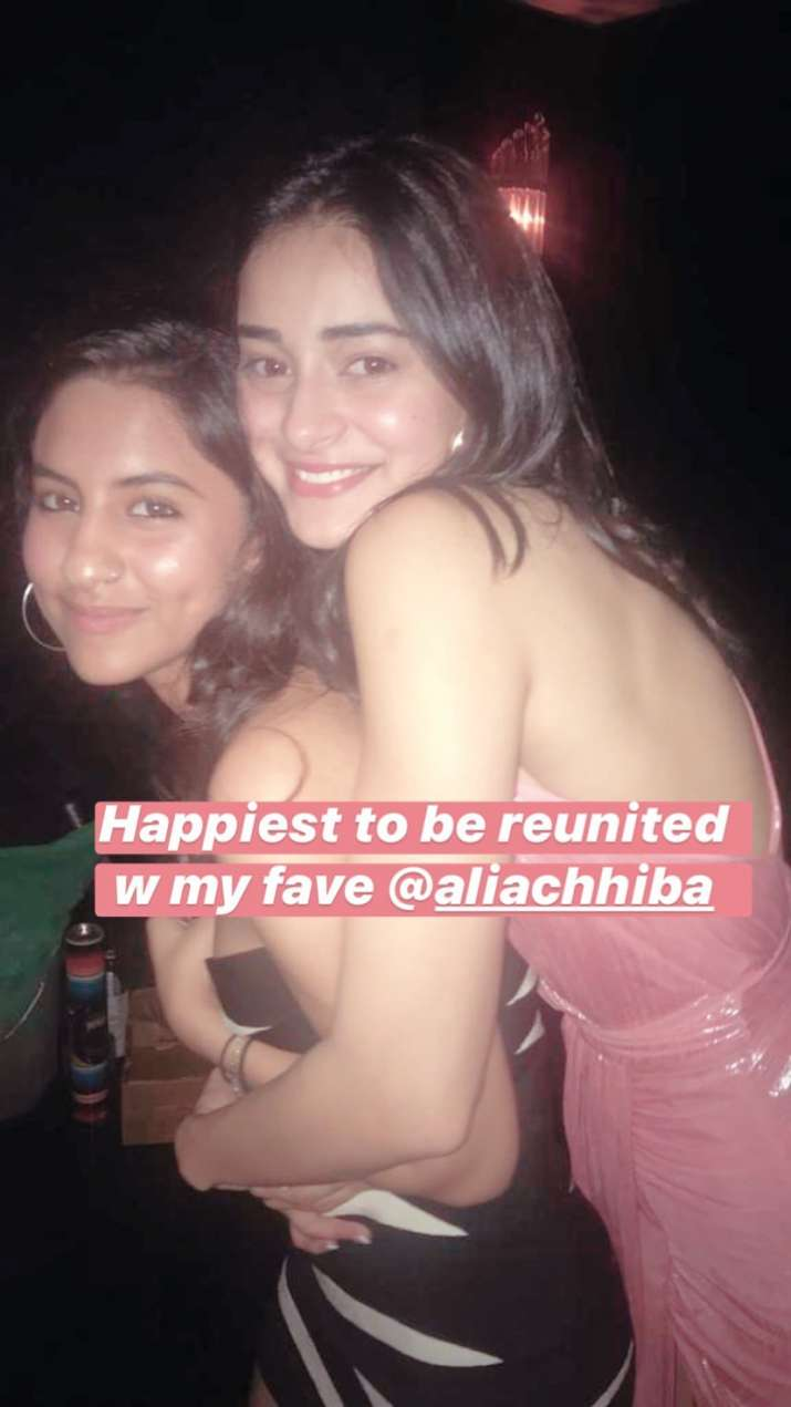 India Tv - Ananya Panday with her friend