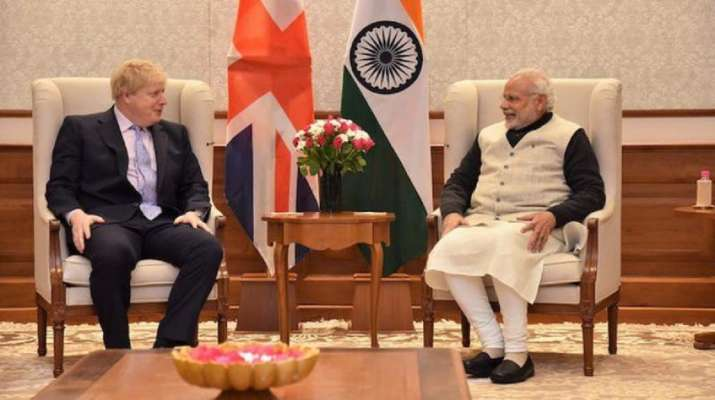 PM Modi with UK Prime Minister