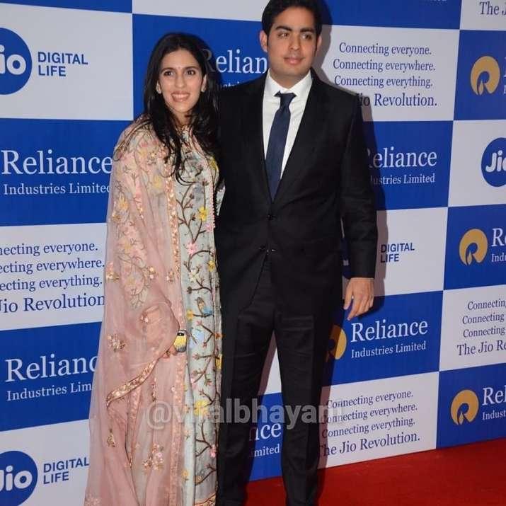 India Tv - Akash Ambani with wife Shloka Ambani