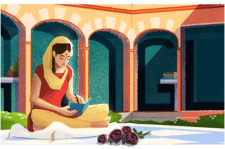 India Tv - Google Doodle honours writer Amrita Pritam on her 100th birth anniversary