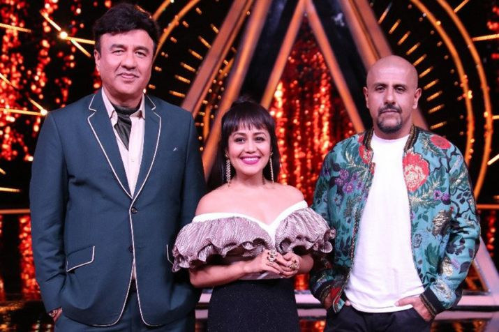 India Tv - Neha Kakkar, Anu Malik and Vishal Dadlani as Indian Idol 10 judges