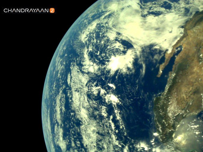 India Tv - Earth as viewed by Chandrayaan2 LI4 Camera on August 3, 2019 17:29 UT
