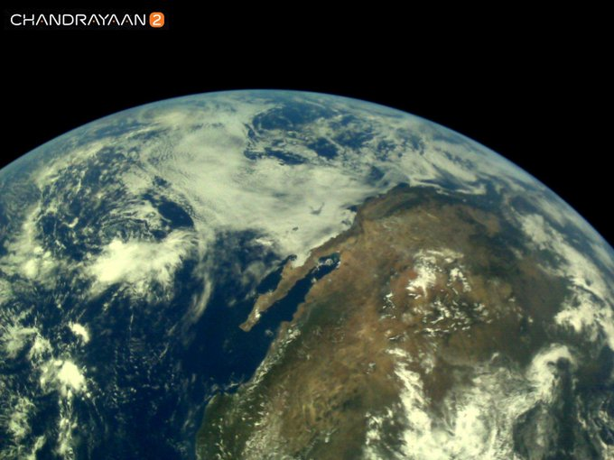India Tv - Earth as viewed by Chandrayaan2 LI4 Camera on August 3, 2019 17:32 UT