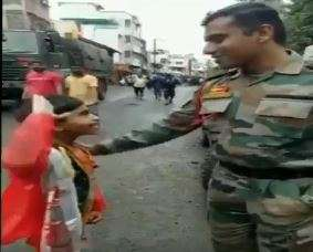 This video of a child saluting Army jawan for Maharashtra