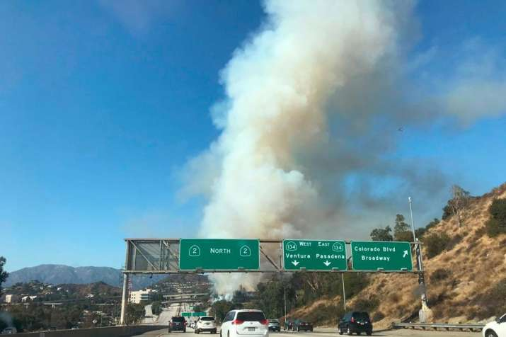 Video: Los Angeles fire spurs evacuation orders