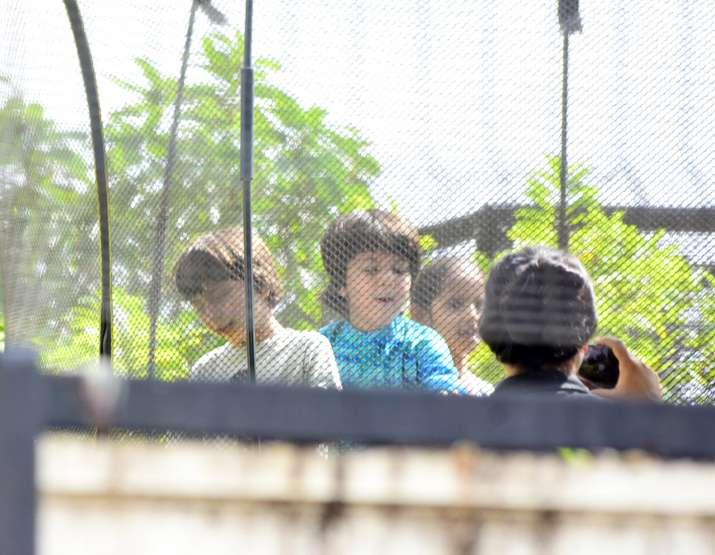 India Tv - Shah Rukh Khan celebrates Dahi Handi with son