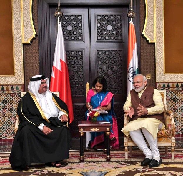 PM Modi met the Crown Prince of Bahrain Salman bin Hamad bin Isa Al Khalifa.