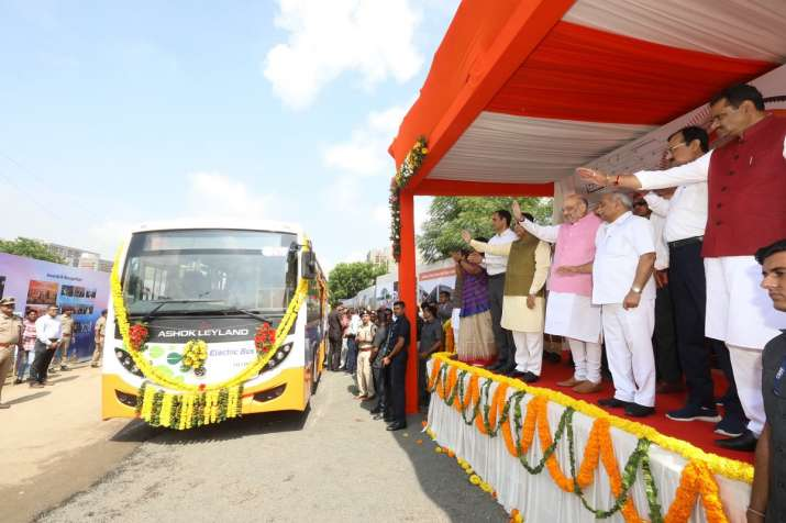 Ahmedabad enters green lane as Amit Shah flags off first