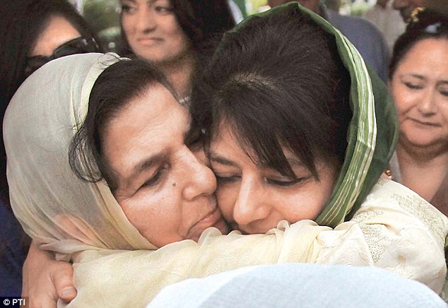 Mehbooba Mufti's mother, sister meet her at Srinagar's