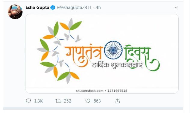 India Tv - Esha Gupta's earlier tweet