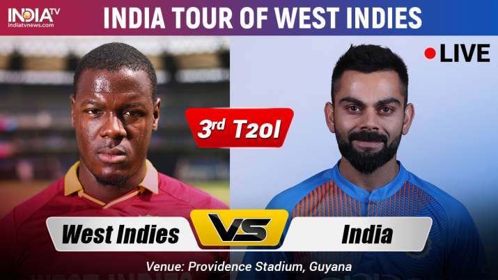 India vs West Indies, 3rd T20I: Watch Live Match IND vs WI