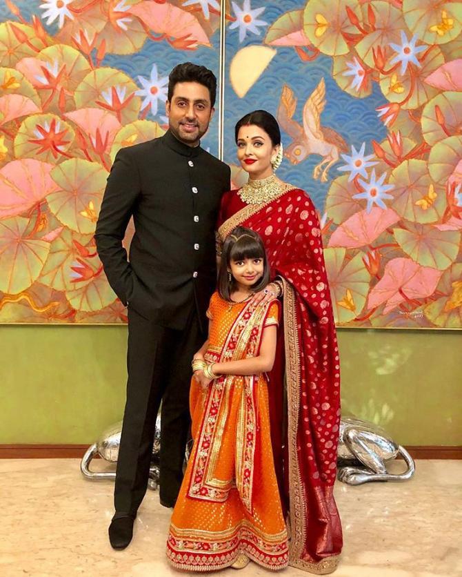 India Tv - Abhishek and Aishwarya with their dotting daughter Aaradhya at Jalsa.