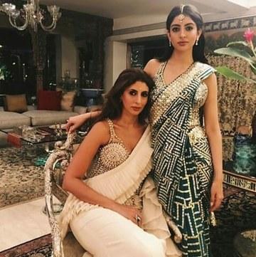 India Tv - Amitabh Bachchan's daughter Shweta and grand-daughter Navya at Jalsa.