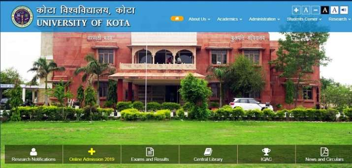 Kota University BA 1st year result 2019 declared