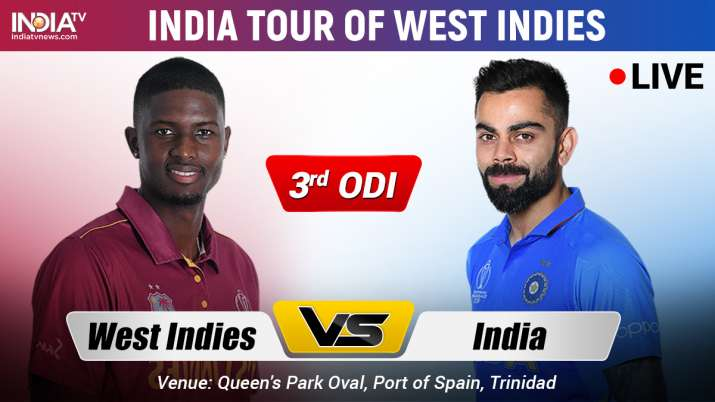 Live Cricket Streaming, India vs West Indies, 3rd ODI: Watch IND vs WI Live Cricket Match Online on