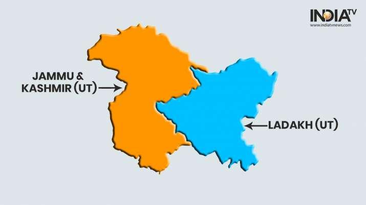 India Tv - Jammu and Kashmir map after reorganisation