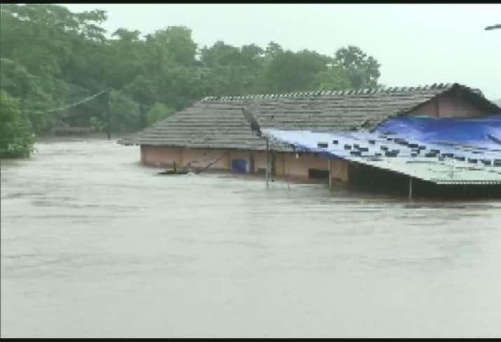 Mumbai Rains: Houses submerged under floodwater in Thane,