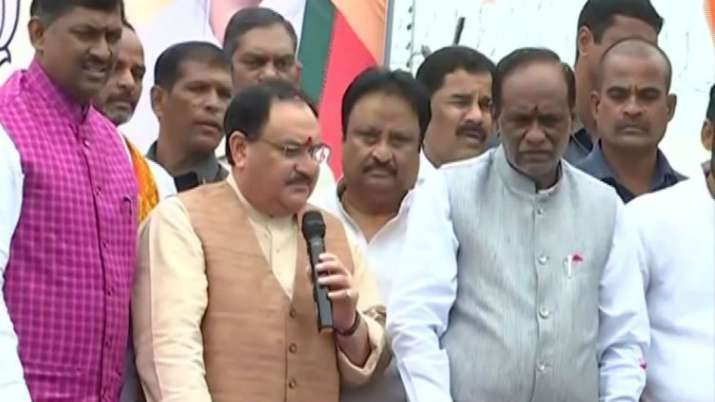 Nadda discusses poll strategy with Telangana BJP leaders
