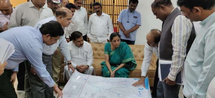 India Tv - Union Minister Nirmala Sitharaman monitoring rescue and relief in Karnataka