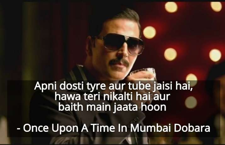 India Tv - Apni dosti tire aur tube jaisi hai ... hawa teri nikalti hai aur bahet main jaata hoon - Once Upon A Time In Mumbaai Dobara