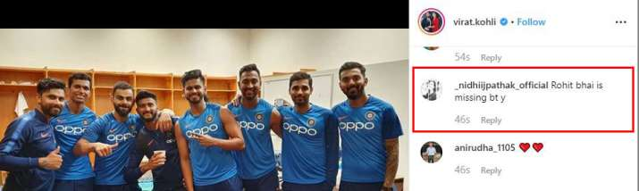 India Tv - Various fans commented on the picture asking about the absence of Rohit Sharma.
