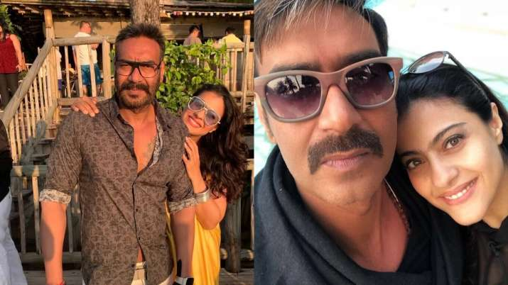 10 candid pictures of DDLJ actress Kjaol with husband Ajay