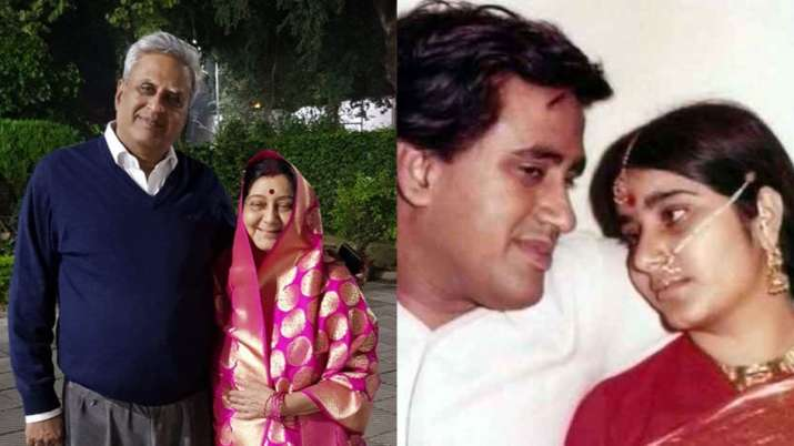 Throwback to when Sushma Swaraj shared gorgeous picture as bride on wedding anniversary