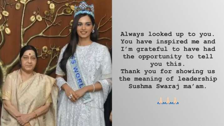 Manushi Chhillar is an Indian model and the winner of the Miss World 2017 pageant, Shares Heartfelt