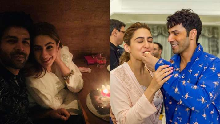 Sara Ali Khan gets birthday surprise from Varun Dhawan on Coolie No. 1 sets, later dines with Kartik