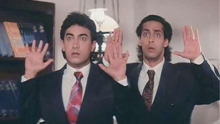 India Tv - Salman Khan and Aamir Latest news Khan reunite for Andaz Apna Apna 2