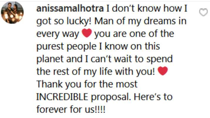 India Tv - Anissa Malhotra's comment on Armaan Jain's post