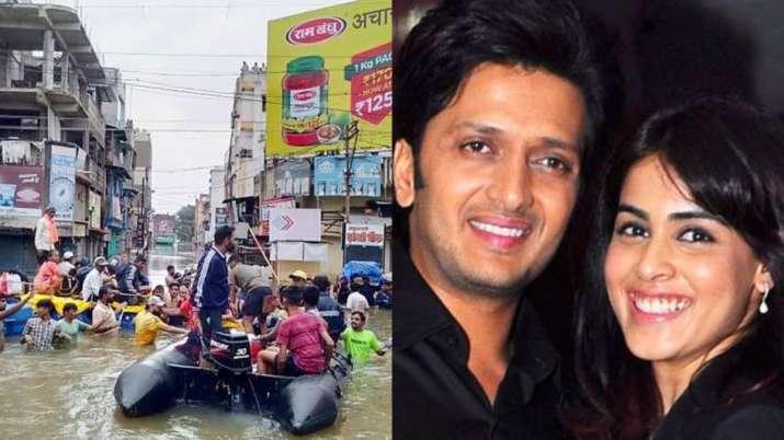 Riteish, Genelia donate Rs.25 lakh for Maharashtra flood