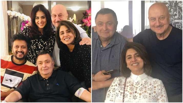 Rishi Kapoor enjoys 'ghar ka khana' with Riteish Deshmukh