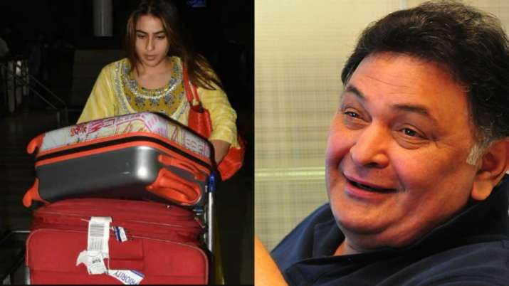Rishi Kapoor praises Sara Ali Khan for carrying her luggage trolley at airport