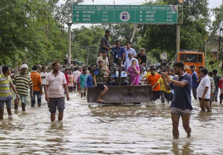 Heavy rains in parts of Rajasthan