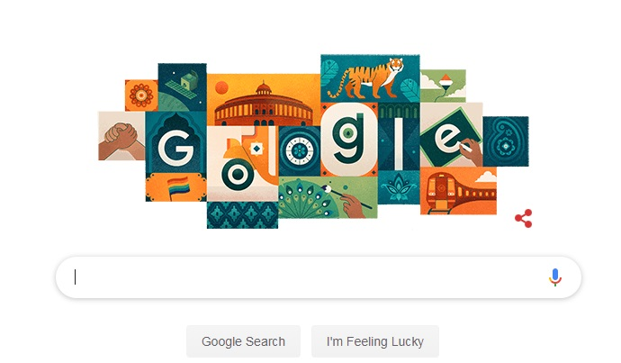 India Tv - Google Doodle celebrates 73rd Independence Day in a unique way, Twitterati amazed