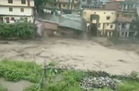 House comes down crashing in flash floods in Uttarakhand's