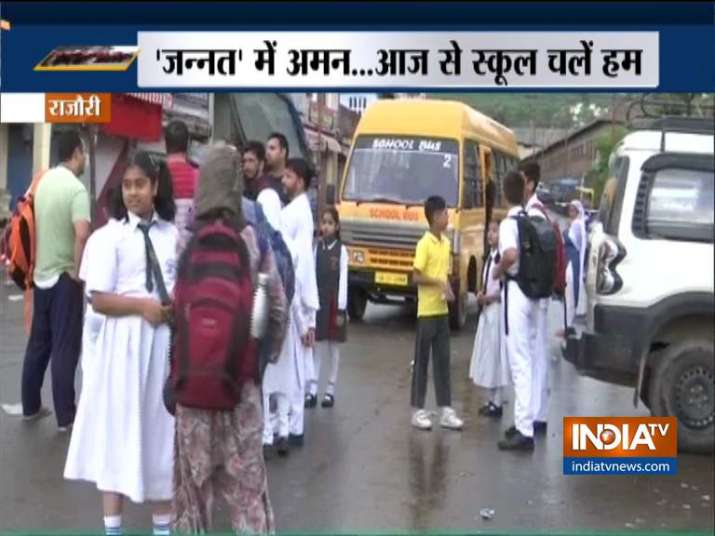 190 schools in J&K reopen amid tight security