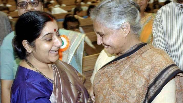 Sushma Swaraj, who died aged 67, tweeted her condolences on