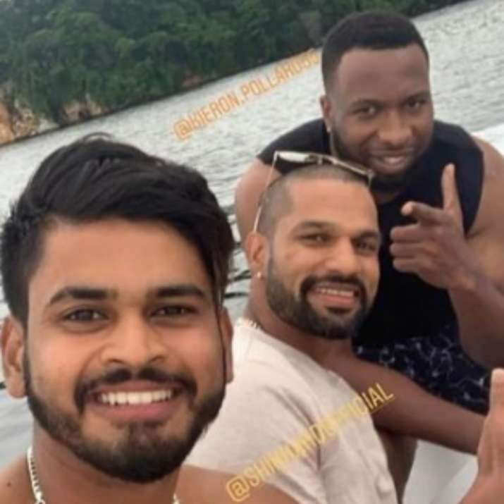India Tv - Shreyas Iyer, Shikhar Dhawan and Kieron Pollard.
