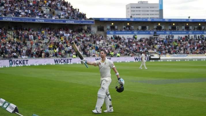 India Tv - Steve Smith scored 144 off 219 balls in Birmingham